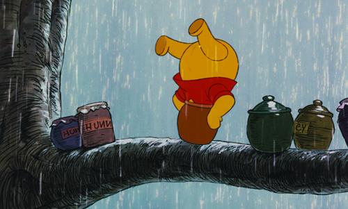 Winnie the Pooh Stuck in pot